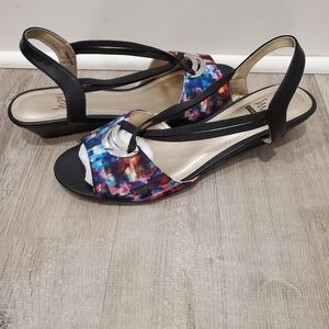 NEW Impo Multicolor Stretch Wedge Sandals